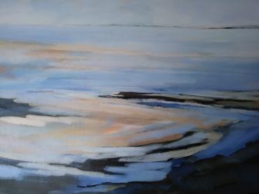 "swirling tidal patterns 23""x16"" -£180"