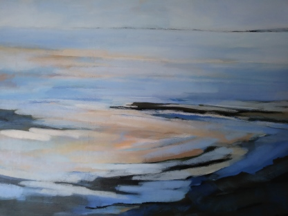 "swirling tidal patterns 23""x16"" -£180"