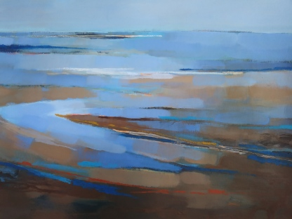 Bright seascape - A3 sized image, with white border, Signed and dated.