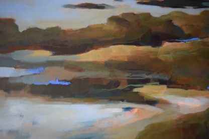 'Bass Rock' detail to show layering and depth of colours.